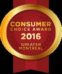 2016 Consumer Choice Award;